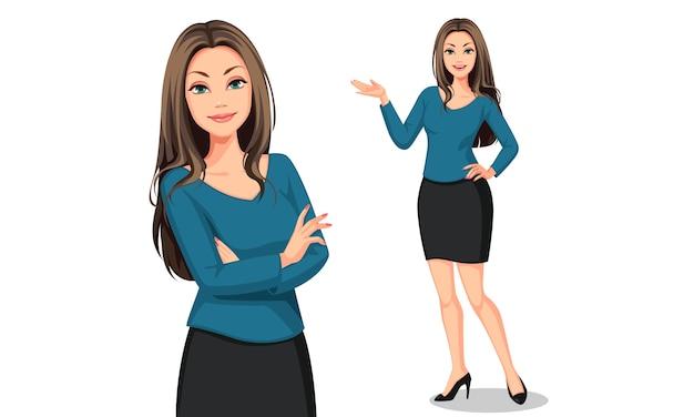 Ilustración hermosa mujer de negocios