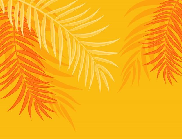 Ilustración hermosa del vector del fondo de la silueta de la hoja de la palmera