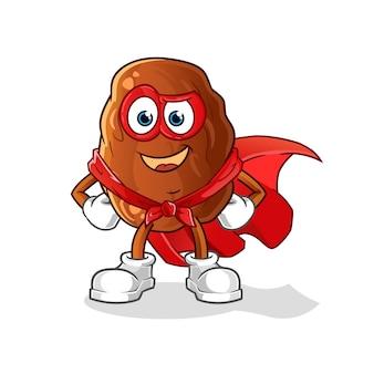 Ilustración de héroes de frutas de fecha