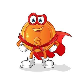 Ilustración de héroes de moneda de dólar