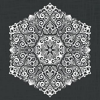 Ilustración de hexágono decorativo de damasco