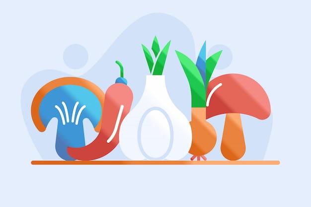 Ilustración de hierbas