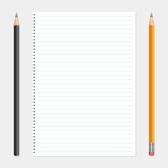 Ilustración de la hoja de papel en el fondo