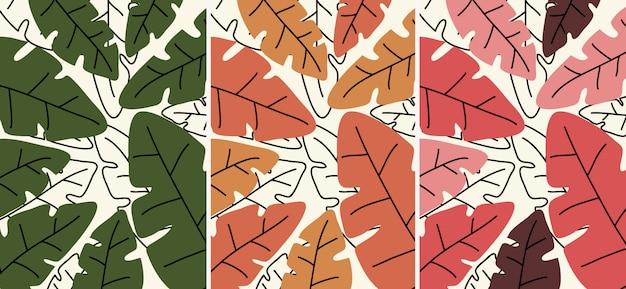 Ilustración de hojas. hojas en la ilustración de la temporada de árboles.