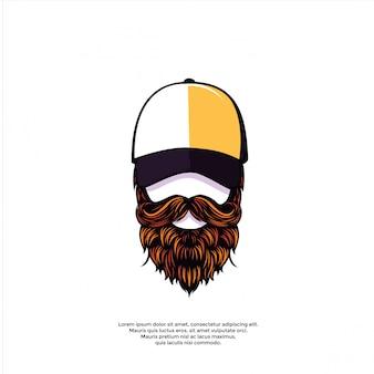 Ilustración de hombre barbudo