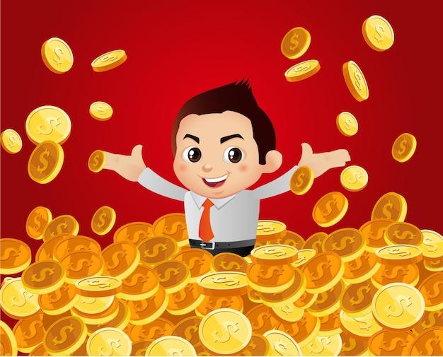 Ilustración de hombre rico