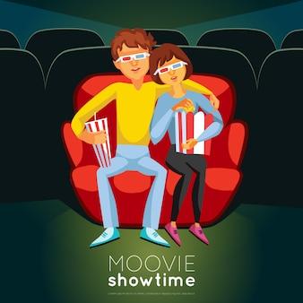 Ilustración de la hora del cine