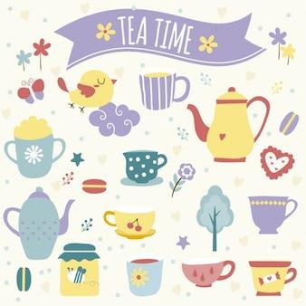 Ilustración la hora del té