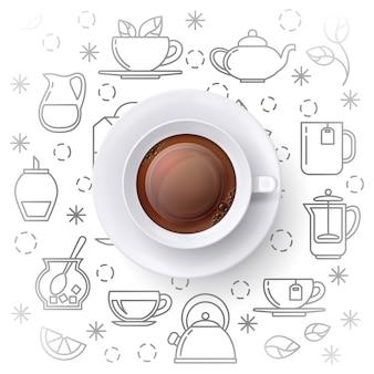 Ilustración de la hora del té