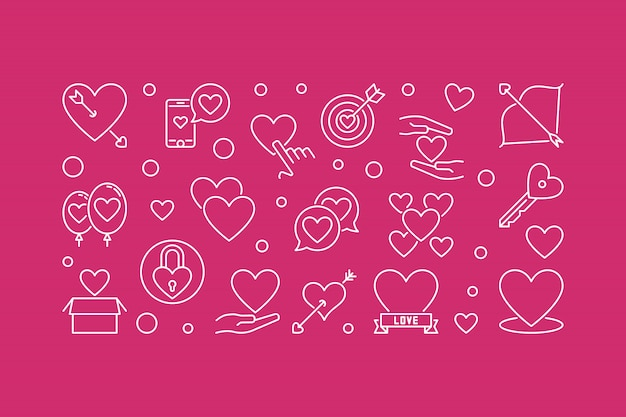 Ilustración horizontal del esquema de amor incondicional