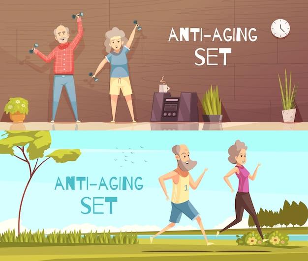 Ilustración horizontal de longevidad