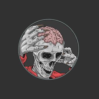 Ilustración de horror de masacre de zombie de halloween