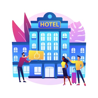 Ilustración de hotel de estilo de vida