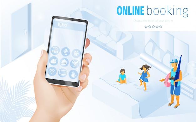 Ilustración de hotel familiar para niños