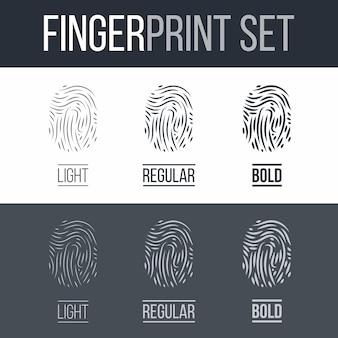 Ilustración de huellas dactilares