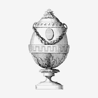 Ilustración de huevo de fabergé vintage