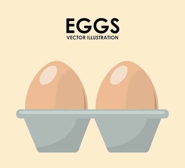 Ilustración de huevos