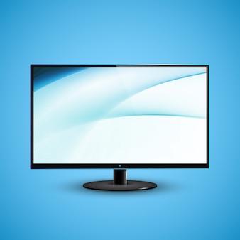 Ilustración de icd de pantalla plana de tv