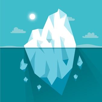 Ilustración de iceberg en el océano