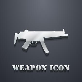 Ilustración del icono de ametralladora. imagen creativa y 3d