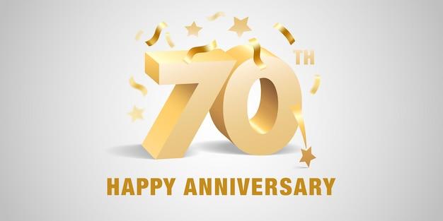 Ilustración de icono de aniversario de 70 años
