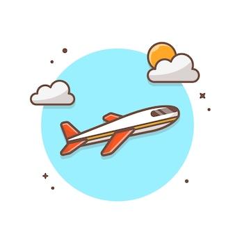 Ilustración del icono de avión de aire