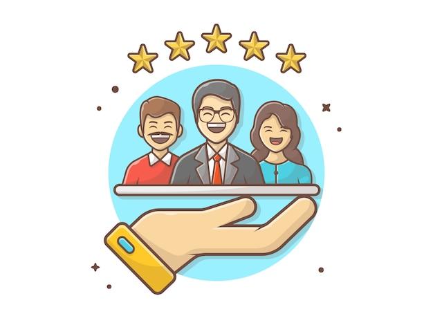 Ilustración del icono de calificación del cliente