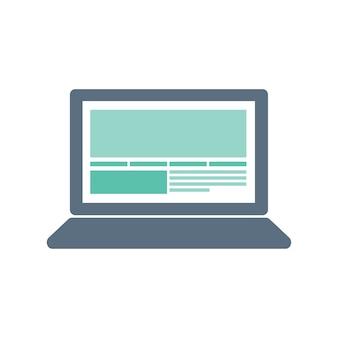Ilustración del icono de la computadora