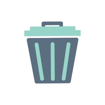 Ilustración del icono de cubo de basura