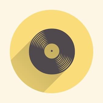 Ilustración de icono de discos de vinilo, patrón de música. portada creativa y de lujo