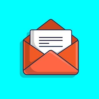Ilustración de icono de documento de carta