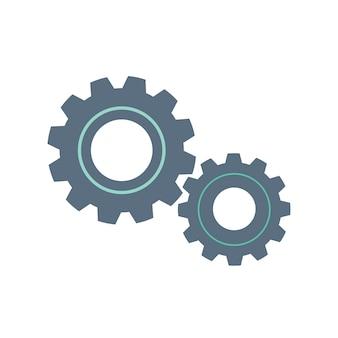 Ilustración del icono de doodle de engranaje