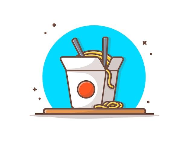 Ilustración de icono de fideos ramen
