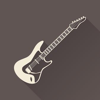 Ilustración del icono de guitarra, patrón de música. portada creativa y de lujo