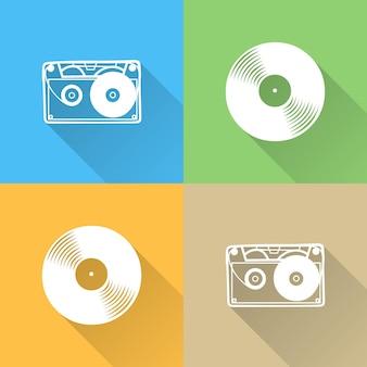 Ilustración del icono de instrumentos musicales. portada creativa y de lujo