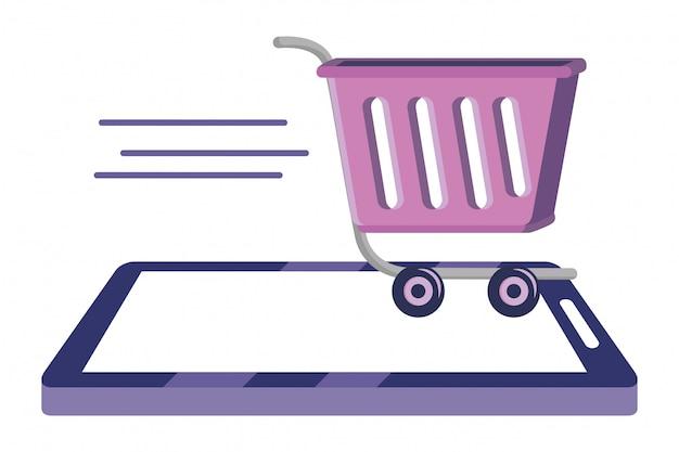 Ilustración de icono en línea de compras