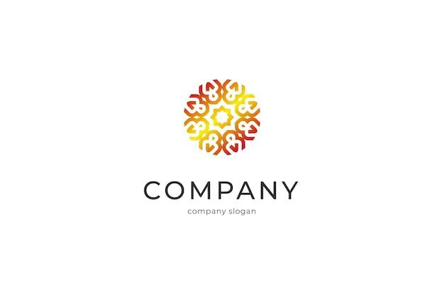 Ilustración de icono de logotipo abstracto personas elegantes