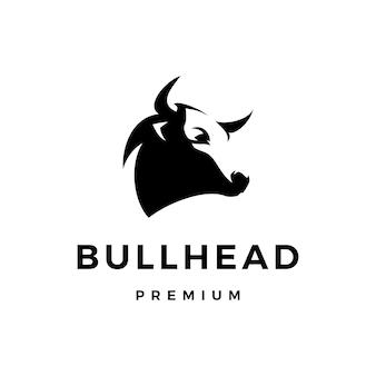 Ilustración de icono de logotipo de cabeza de toro