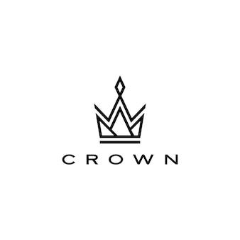 Ilustración del icono del logotipo de la corona