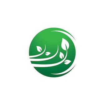 Ilustración de icono de logotipo de ecología