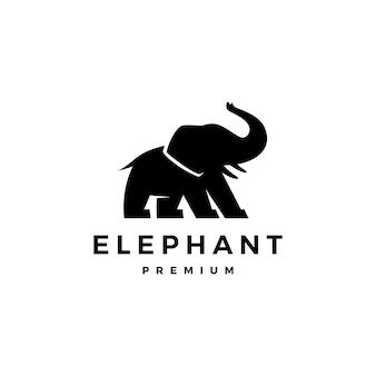 Ilustración de icono de logotipo de elefante