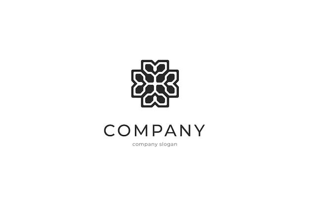Ilustración de icono de logotipo elegante abstracto