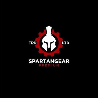 Ilustración de icono de logotipo de engranaje de sparta