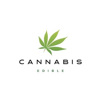 Ilustración de icono de logotipo de hoja de cannabis