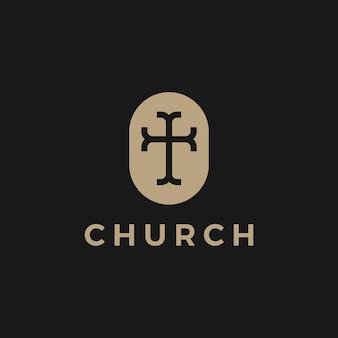 Ilustración del icono del logotipo de la iglesia