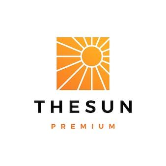 Ilustración de icono de logotipo de sol