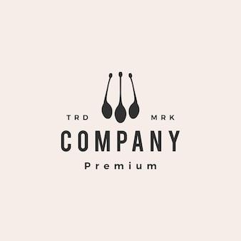 Ilustración de icono de logotipo vintage de alcaparras fruta hipster