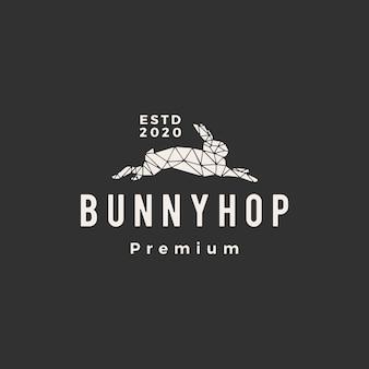 Ilustración de icono de logotipo vintage de conejo geométrico conejo conejo hipster