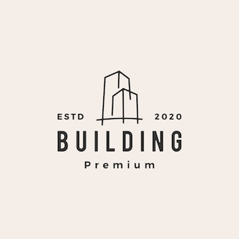 Ilustración de icono de logotipo vintage de construcción