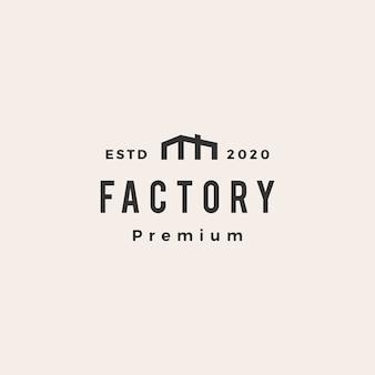Ilustración de icono de logotipo vintage de fábrica